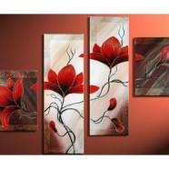 Vícedílné obrazy květin