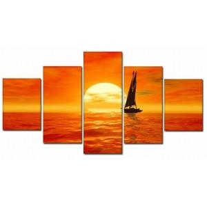 obraz-plachetnice-v-zari-slunce