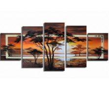 Obrazy ručně malované – stromy a krajinky
