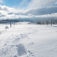 Trampolína a sníh